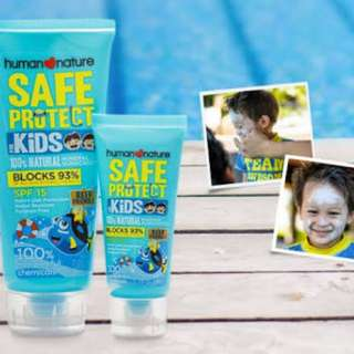 Safe Protect sunblock for babies and kids