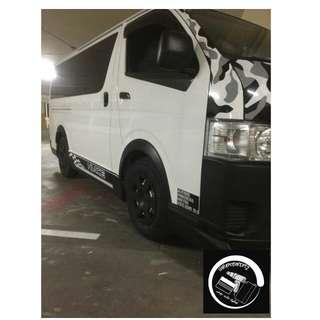 Toyota hiace decal/vinyls/wrap!