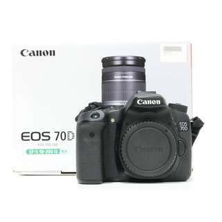 Canon EOS 70D Body Only (Still under Canon Malaysia Warranty until Jan 2020)