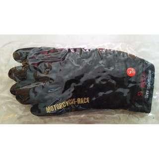 黑色電單車手套