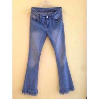 Celana jeans cutbray rumbay #awaltahun