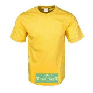 Kaos Polos Cotton Combed 30s Kuning