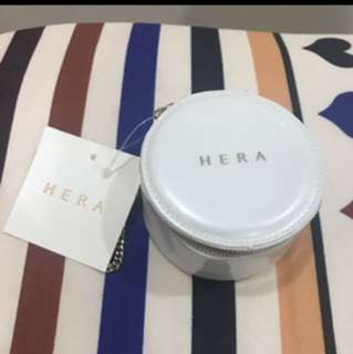 Brand New With Tag Hera Cosmetic Powder Cushion Case Makeup Pouch Container Limited Edition