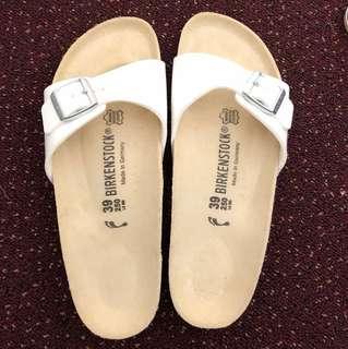 White Birkenstock Madrid Size 39/8