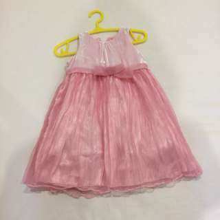 Next pink princess dress 3-6m