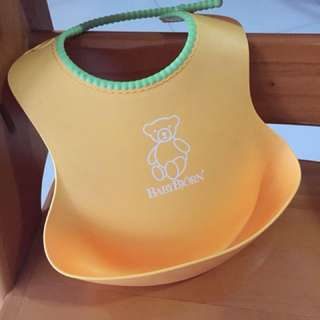 Baby bjorn bib yellow authentic