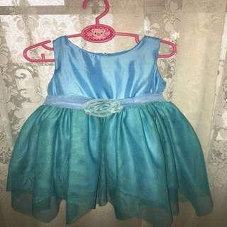 Elegant Blue-Teal Baby Gown/ Dress