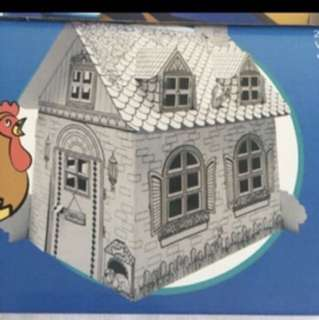 Brand New Gfighters Color It Play It Decorate It House Build It Up Board House In Box Playhouse Cardboard Paper Play House Pretend Play