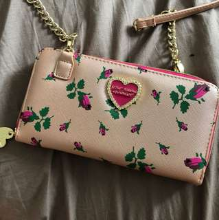 Betsey Johnson Wallet Crossbody Bag