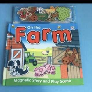 Like New On The Farm Magnetic Play Scene Magnet For Preschool Kids
