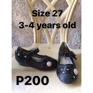 Kid's Black Shoes