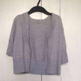 Gray Cropped Jacket