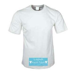 Kaos Polos Cotton Combed 30s Putih
