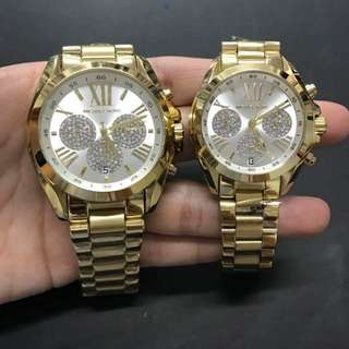 MICHAEL KORS CRYSTALIZED CHRONO WATCH