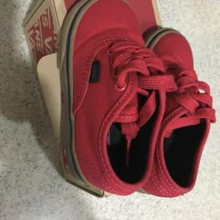 Toddler shoe vans racing red