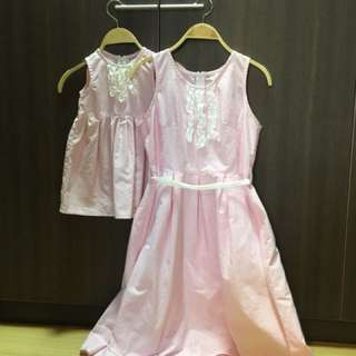 Mother & Daughter Pink Dress
