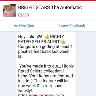 Jan.16,2018 💖HIGHLY RATED SELLER 💖 THANK U CAROUSELL