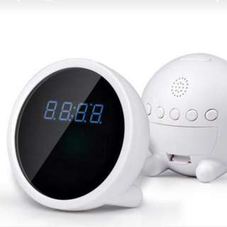 Wifi ip camera clock