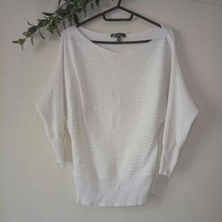White Long Sleeve Top Size XS ICE