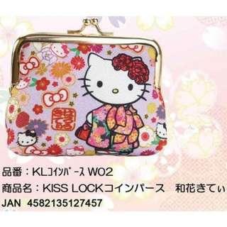 【現貨/售完下架】凱蒂貓/HELLOKITTY:扣型!零錢包(尺寸:90×110×40mm)_免運。