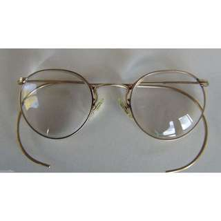 Vintage AO gold horn-rimmed glasses