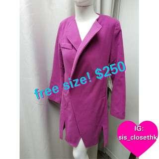 Purple trendy coat.free size.