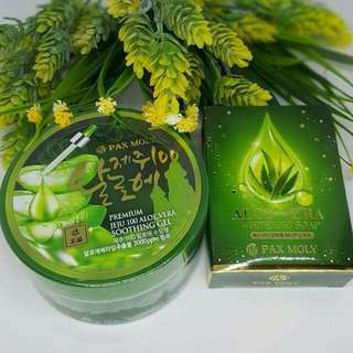 Paxmoly mosturizing gel & whitening soap.