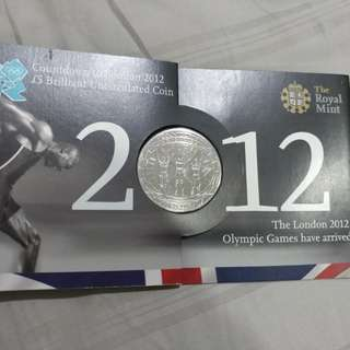 2012 london olympics £5 uncirculated coin
