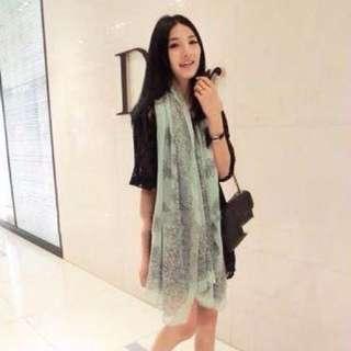 青花瓷 絲巾