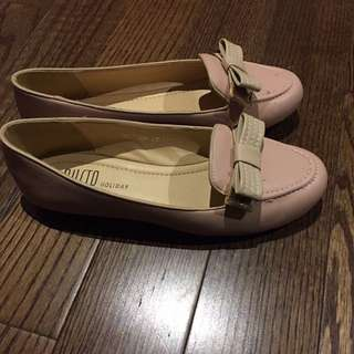 Baby pink flats