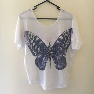 Butterfly Top with Back Detail