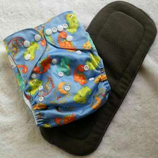 Cloth Diaper with 5-layered bamboo charcoal insert