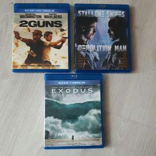 <SOLD> $12 for 3 Original Blu ray Titles Movies