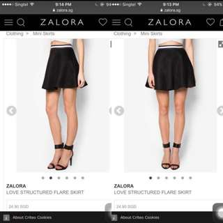 Bnwt Structured Skater Skirt (from ZALORA)