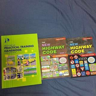 3 Driving Books: BTT + FTT + Practical Training. New Highway Code.