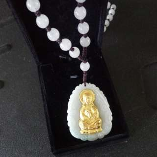 GuanYin Jade with Gold