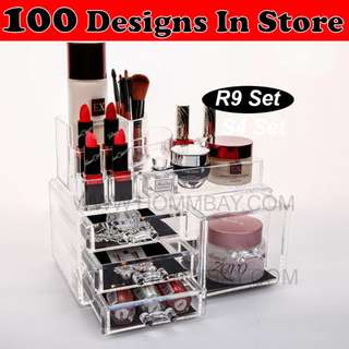 Clear Acrylic Transparent Make Up Makeup Cosmetic Jewellery Jewelry Organiser Organizer Drawer Storage Box Holder (R9)
