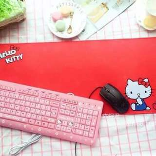 Hello Kitty/My Melody Desk Mat