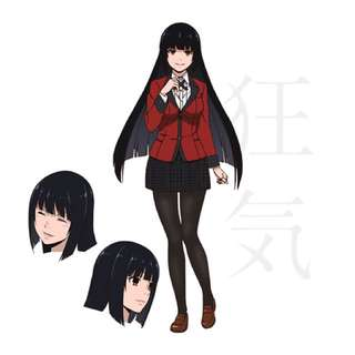Cosplay Jabami Yumeko wig, costume, shoes