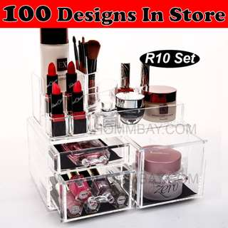 Clear Acrylic Transparent Make Up Makeup Cosmetic Jewellery Jewelry Organiser Organizer Drawer Storage Box Holder (R10)