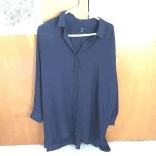 COS Navy Shirt Dress