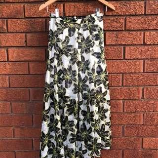 Floral long topshop skirt