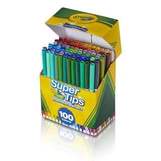 Brand New Crayola Super Tips Washable Marker 100