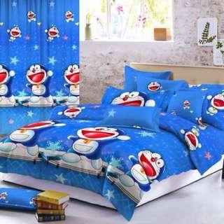 Doraemon Korean 5D Cotton Bedsheet Set