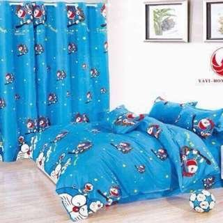 Doraemon US Cotton Bedsheet Set