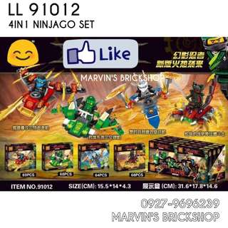 For Sale NINJAGO 4in1 Building Blocks Toy