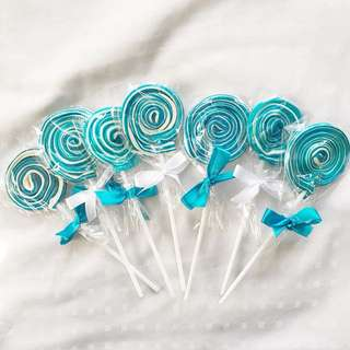 Blue Swirl Lollipops