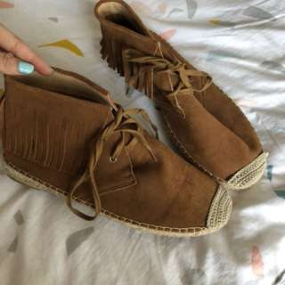 Brown moccasins suede Seed Brand