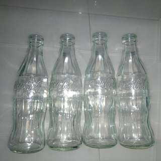 Coca Cola Empty Glass Bottles