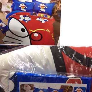 Doraemon 6in1 US Cotton Bedsheet Set